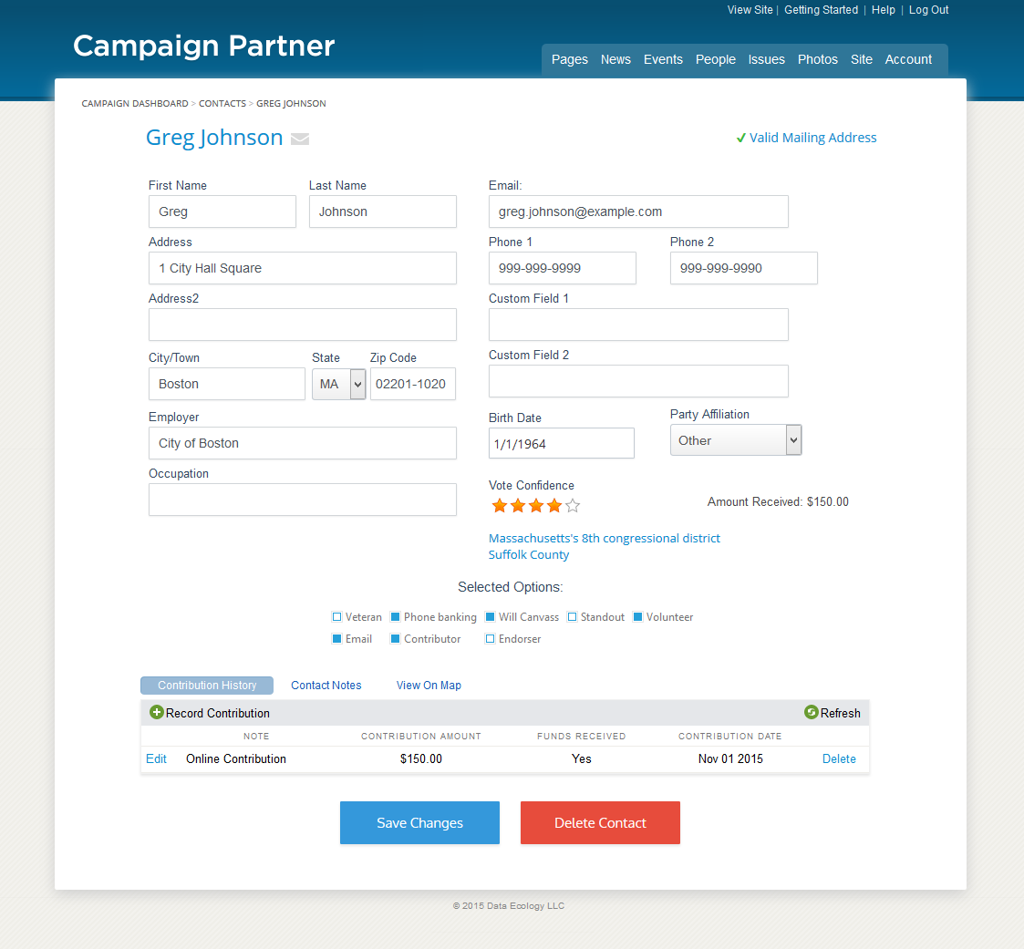 Political websites by campaign partner campaign websites for form and contact management system pronofoot35fo Gallery