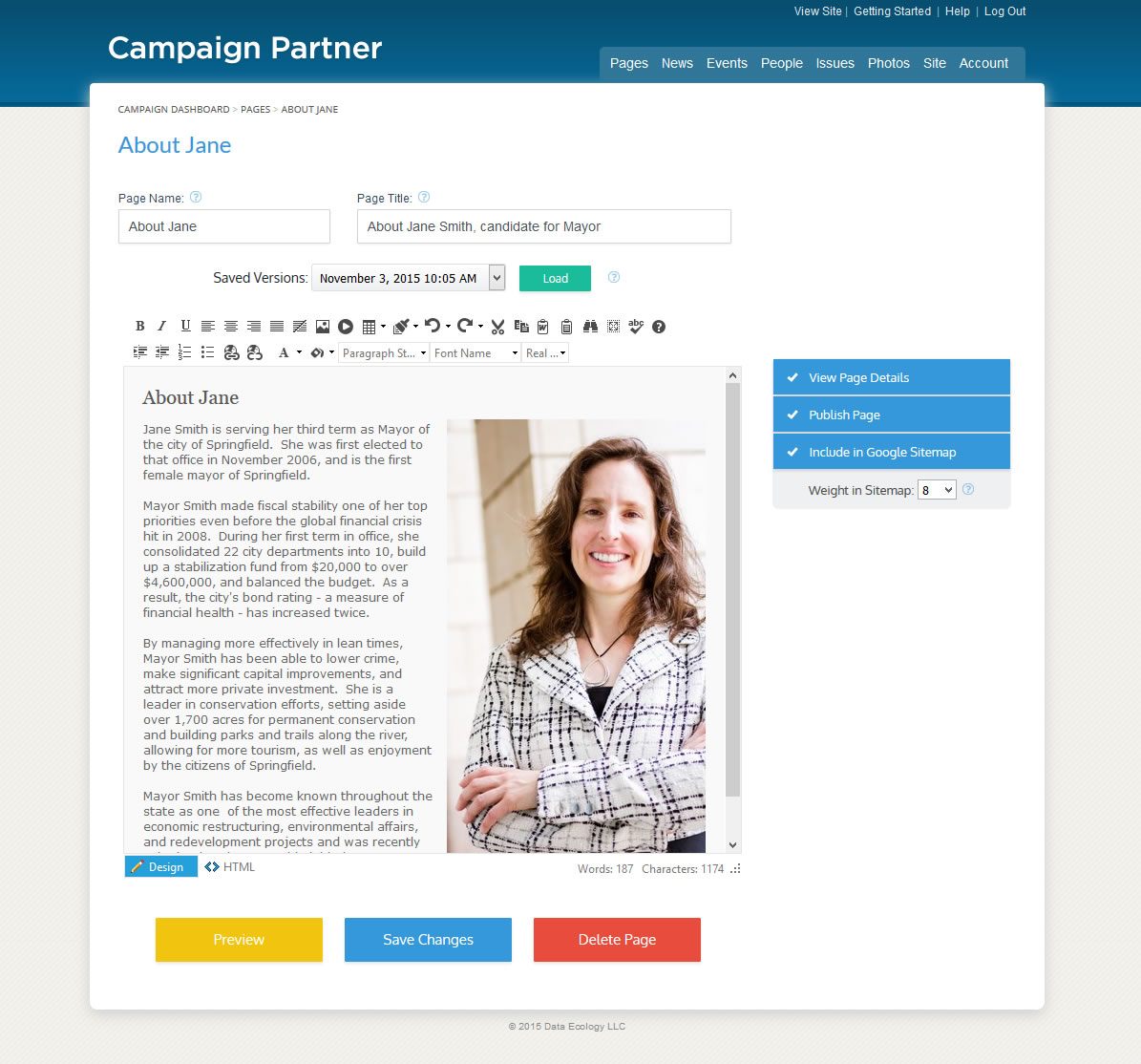 Political websites by campaign partner campaign websites for you can update your website at pronofoot35fo Gallery