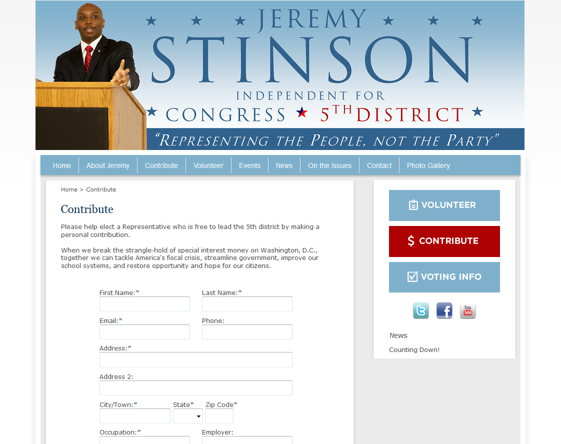 Political websites by campaign partner campaign websites for accept campaign contributions online pronofoot35fo Gallery