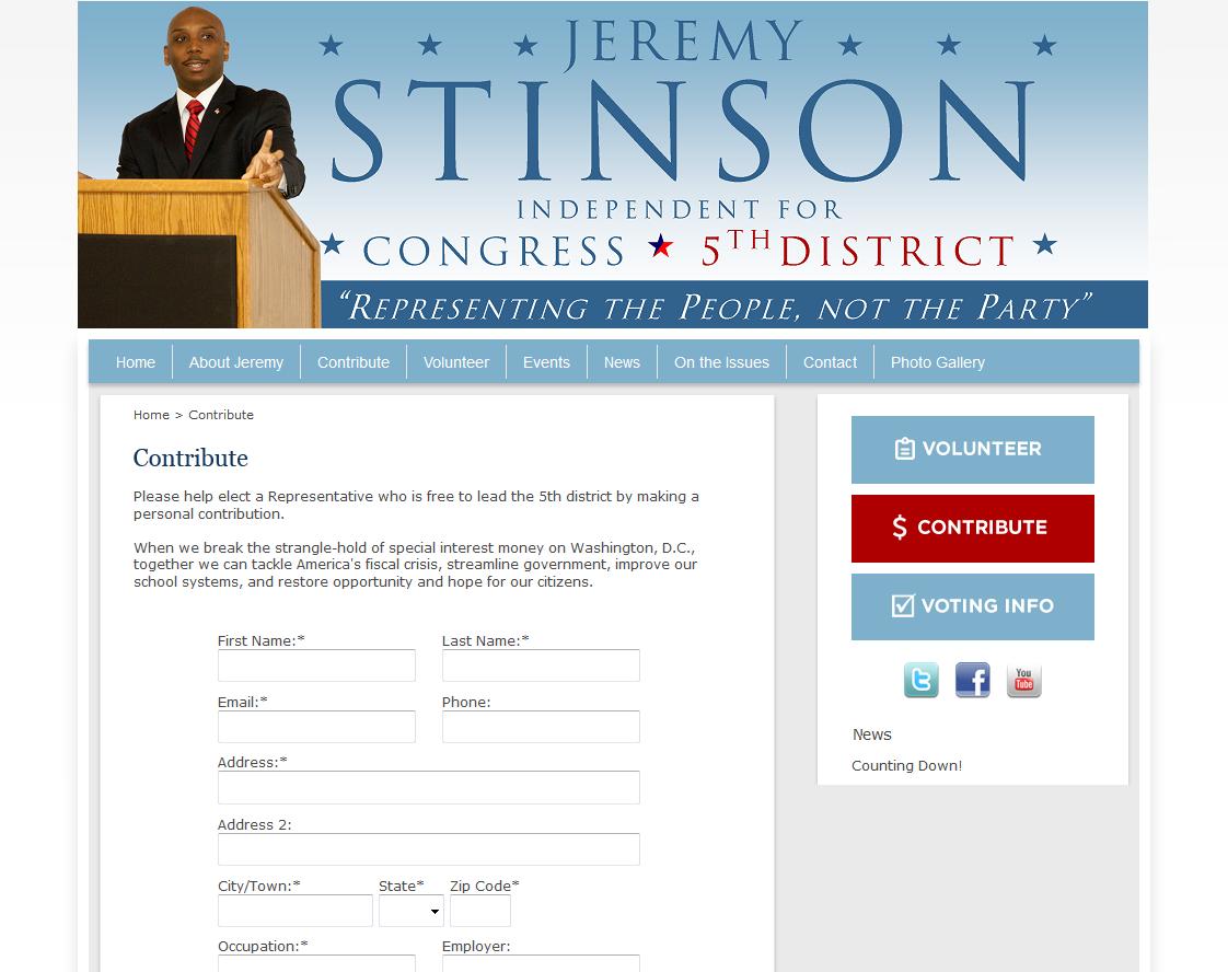 political websites by campaign partner
